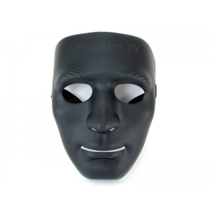 Маска лицо человека Черная