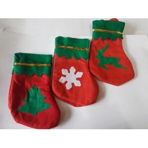 новогодний носок малинки