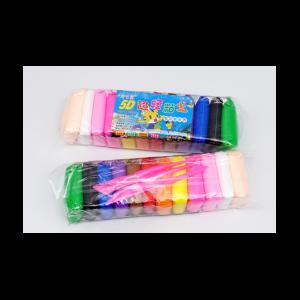 легкий воздушный пластилин, 12 цветов