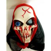 Маска на Хэллоуин череп с выпученным глазом