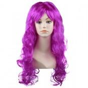Карнавальный парик, длинный, вьющийся парик фиолетового цвета
