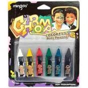 Грим для лица набор карандашей 6 цветов