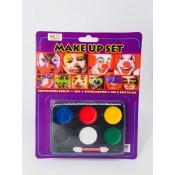 Краска для лица horror Make Up Palette 6 цветов