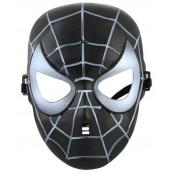 Маска спайдермен человек паук чёрная