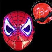 Светящаяся супер-героическая маска Косплей Человек-паук