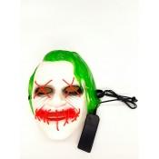 светящаяся маска джокера с зелеными волосами