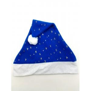 Шапка новогодняя синяя