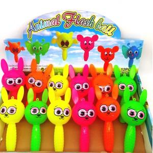 Резиновые игрушки с пищалкой Зайчики