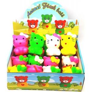 Резиновая игрушка с пищалкой  HELLO KITTI