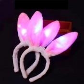 Ушки зайчика розовые светящиеся