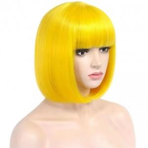 парик каре жёлтые