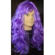 Парик карнавальный волнистый фиолетовый