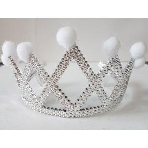 Корона с перьями и болобончиками
