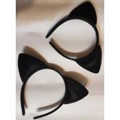 Карнавальный ободок Кошка черные ушки