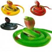 Игрушка змея кобра силиконовая цветные